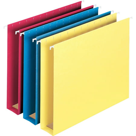 Colored Box Bottom (Smead, SMD64264, Colored Hanging Box Bottom Folders, 25 / Box, Blue,Yellow,Red)