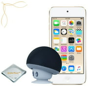 Apple iPod touch Gold 64GB (6th Generation) - Mushroom Bluetooth Wireless Speaker/Ipod Stand - Quality Photo cloth