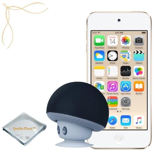 Apple iPod touch Gold 64GB (6th Generation) - Mushroom Bluetooth Wireless Speaker/Ipod Stand - Quality Photo cloth
