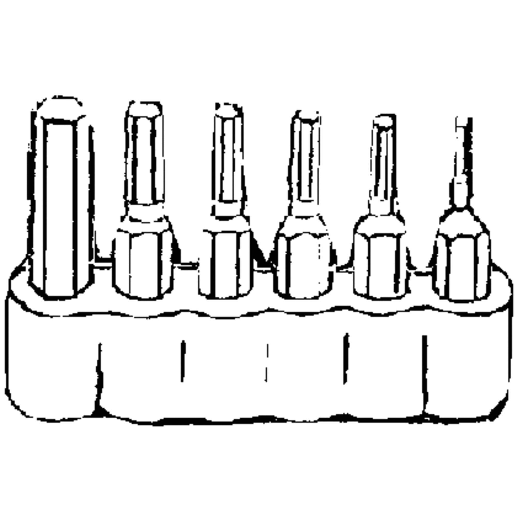 Best Way Tools 6-Piece Hex Metric Insert Screwdriver Bit Set