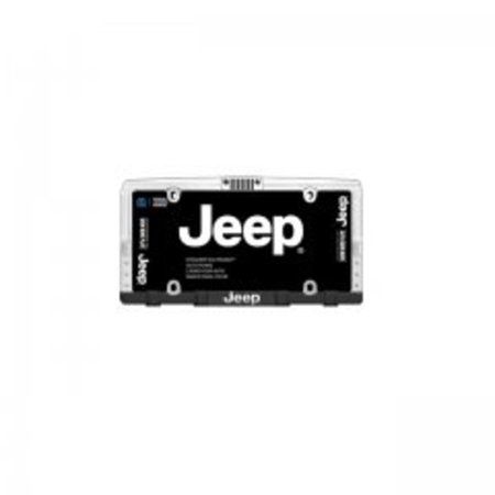 Jeep Front Grille Chrome License Plate Frame Free Screw Caps with this Frame