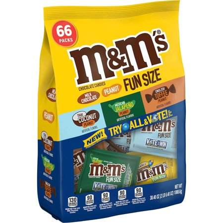 M&M's Peanut, Milk Chocolate, Thai Coconut, Mexican Jalapeño, English Toffee, 66 Fun-Size Packs, Contains one (1) fun size variety mix bag of M&M'S.., By MMs](M&m Fun Size)