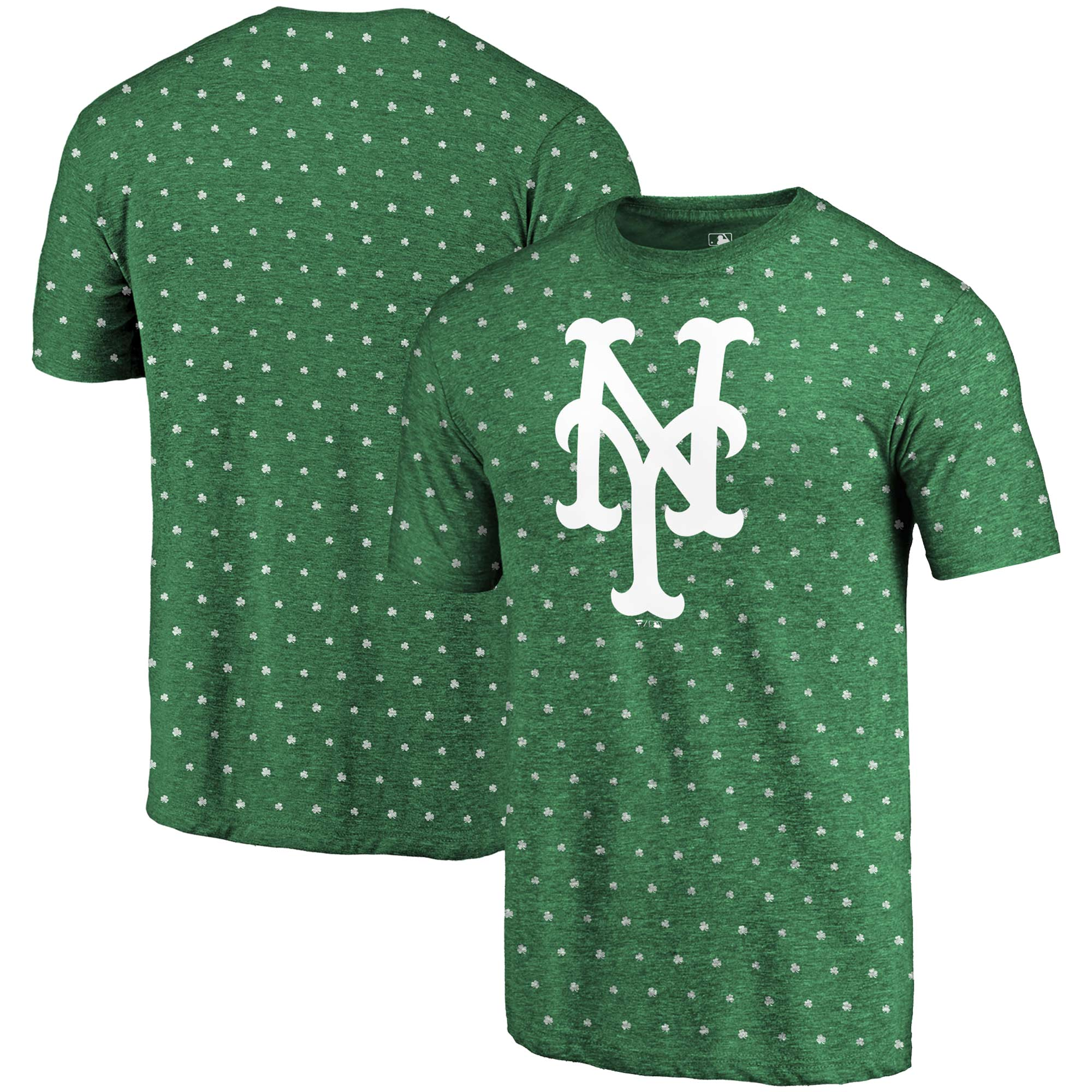 New York Mets Fanatics Branded 2018 St. Patrick's Day All Irish Tri-Blend T-Shirt - Kelly Green