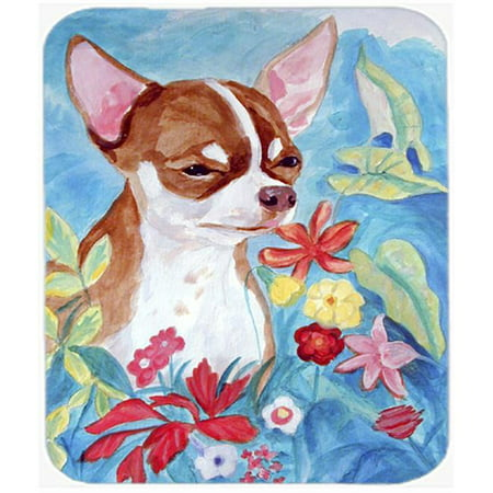 9.5 x 8 in. Chihuahua in flowers Mouse Pad, Hot Pad or Trivet - image 1 de 1