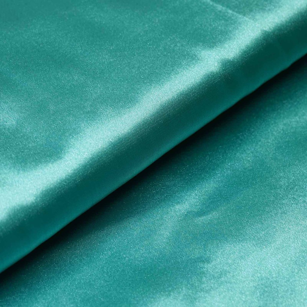 "54"" Wide x 10 yards Satin Fabric Bridal Bolt - Turquoise"