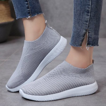 Meigar Women's Casual Walking Shoes Breathable Mesh Work Trainer Slip-on