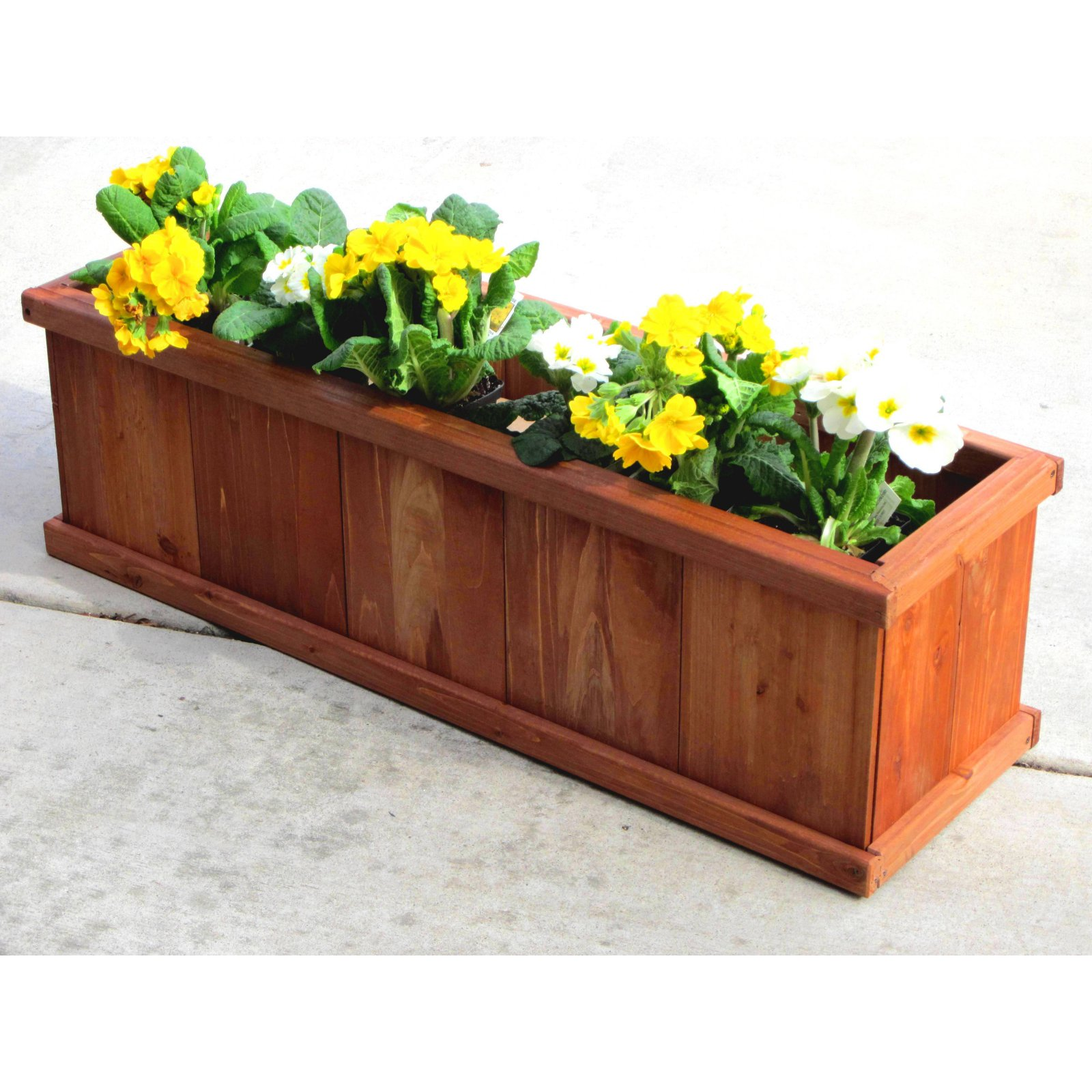 Greenstone Robusto Rectangular Cedar Planter Walmart Com