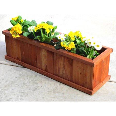 Greenstone Robusto Rectangular Cedar Planter ()