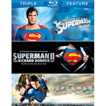 Superman: The Movie / Superman II: The Richard Donner Cut / Superman Returns (Blu-ray)