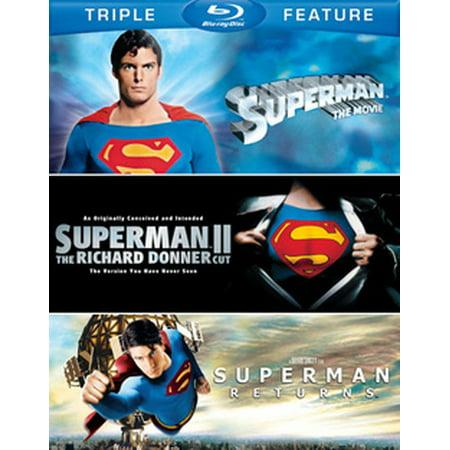 Superman: The Movie / Superman II: The Richard Donner Cut / Superman Returns (Blu-ray) ()