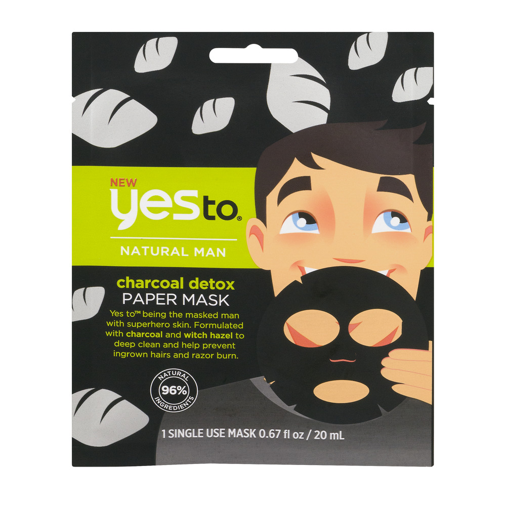 Yes To Charcoal Detox Paper Mask, .67 fl oz