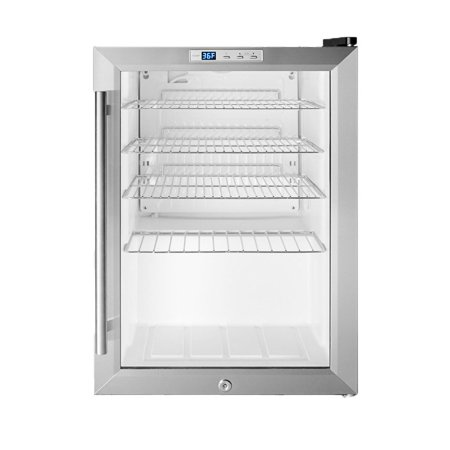 - Summit SCR312L 17in Wide 2.5 Cu. Ft. Freestanding Merchandiser Refrigerator with Digital Thermostat