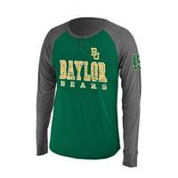 """Baylor Bears NCAA """"Spotter"""" Long Sleeve Dual Blend Men's Henley Shirt"""