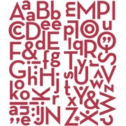 Puffy Alphabet Stickers-Red