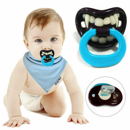 KABOER Baby Boy Girl Funny Novelty Dummy Baby Pacifier Vampire Tooth Nipple Faddish