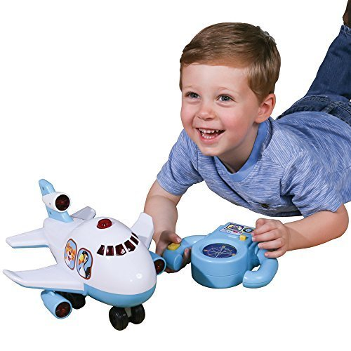 CP Toys First Remote-Controlled Jumbo Jet with Flashing Lights and Music