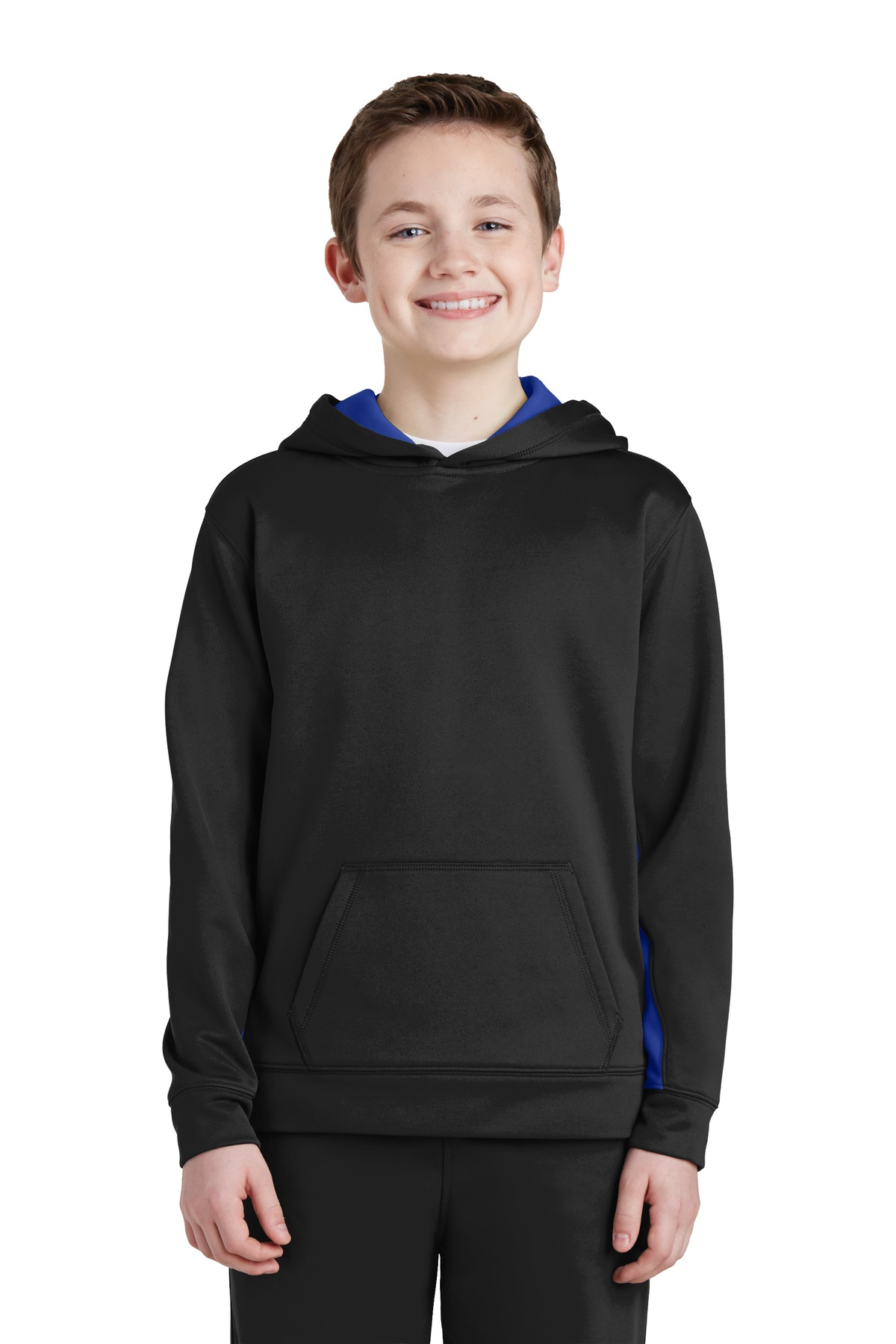 SportWick Fleece Colorblock Hooded Pullover