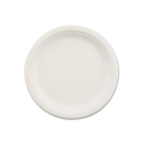 Chinet 1 Compart Plate 9 In Paper White, 500 HUHVESSEL