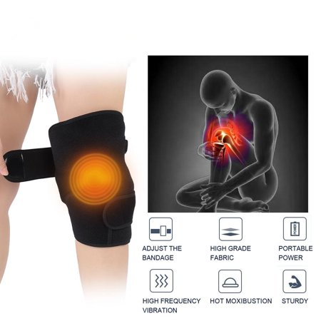 Yosoo Knee Massage Infrared Heat Acupuncture Therapy Rheumatoid Knee Joint Physiotherapy Instrument High Frequency Vibration Relieve Elbow Shoulder Arthritis Leg Pain