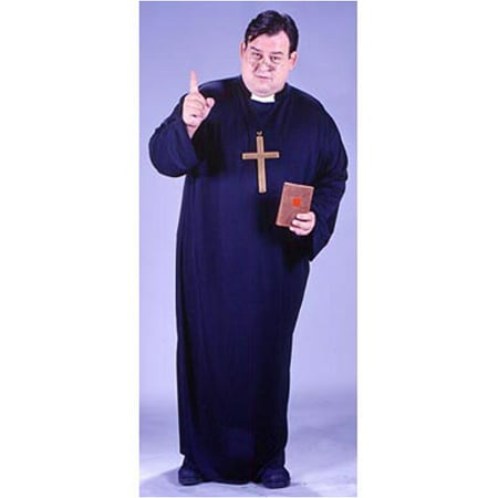 Priest Adult Halloween Costume, One Size 48-52](Halloween Outfit Priest Boy)
