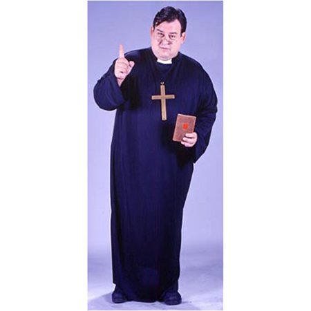 Bad Priest Costume (Priest Adult Halloween Costume, One Size)