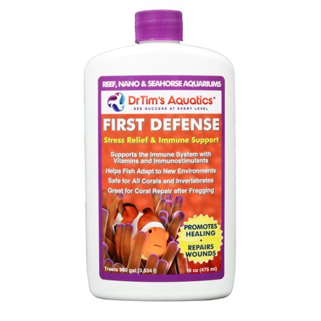 Dr. Tims Reef First Defense Stress Reliever andImmune Support 16 oz. (for up to 960 gal) Aquarium Pharmaceuticals Stress Coat