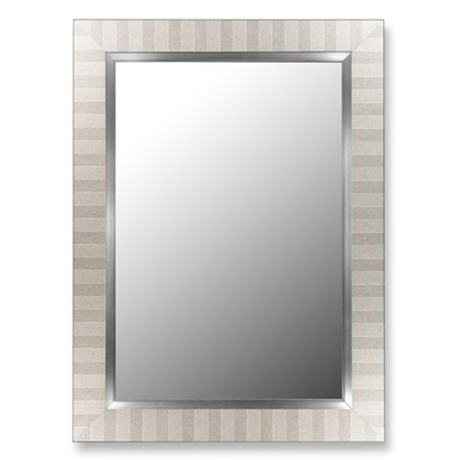 2nd Look Mirrors 2533000 20x38 Parma Silver and Stainless Liner Mirror by 2nd Look Mirrors