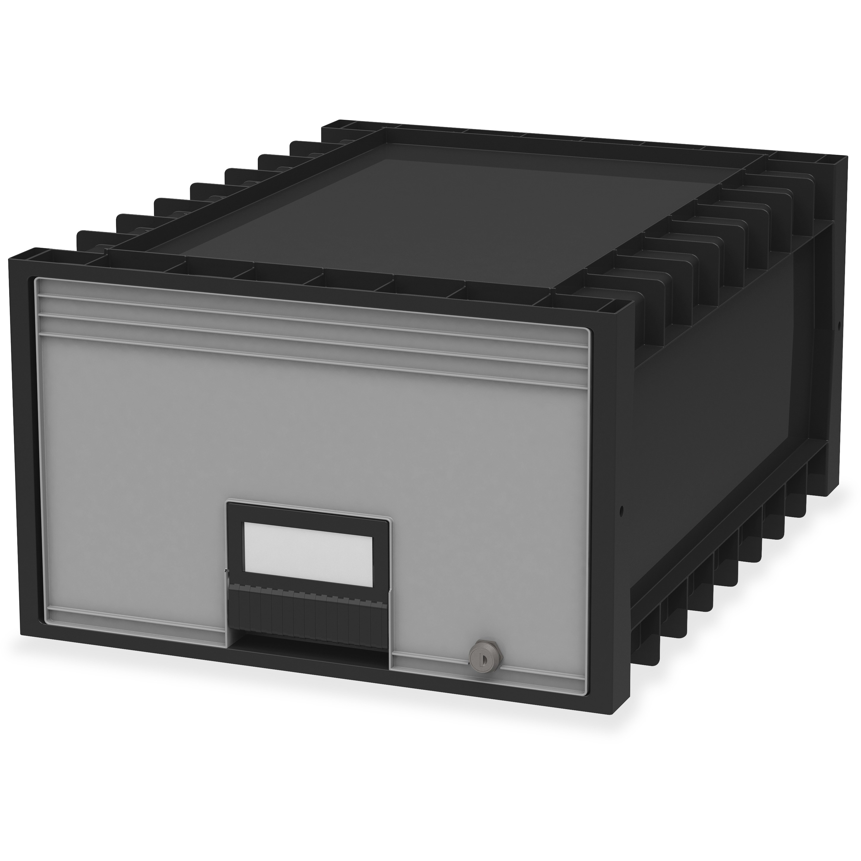 Storex Archive Storage Box, Black, Gray, 1 Each (Quantity)