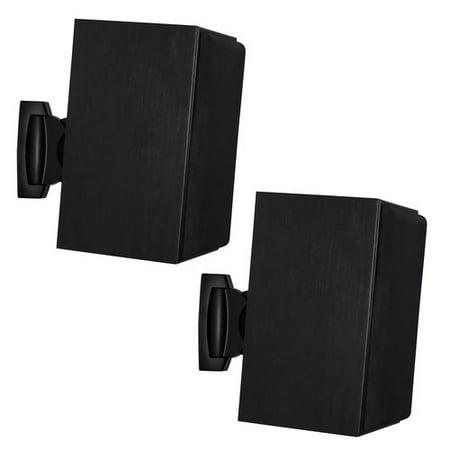 Mount-it Heavy Duty Universal Adjustable Design Wall Speaker Mount (Set of 2)