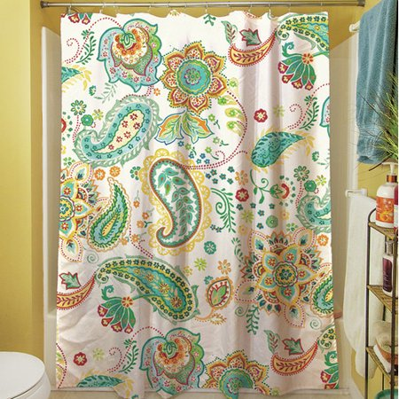 Manual Woodworkers Weavers Aqua Bloom Paisley Shower