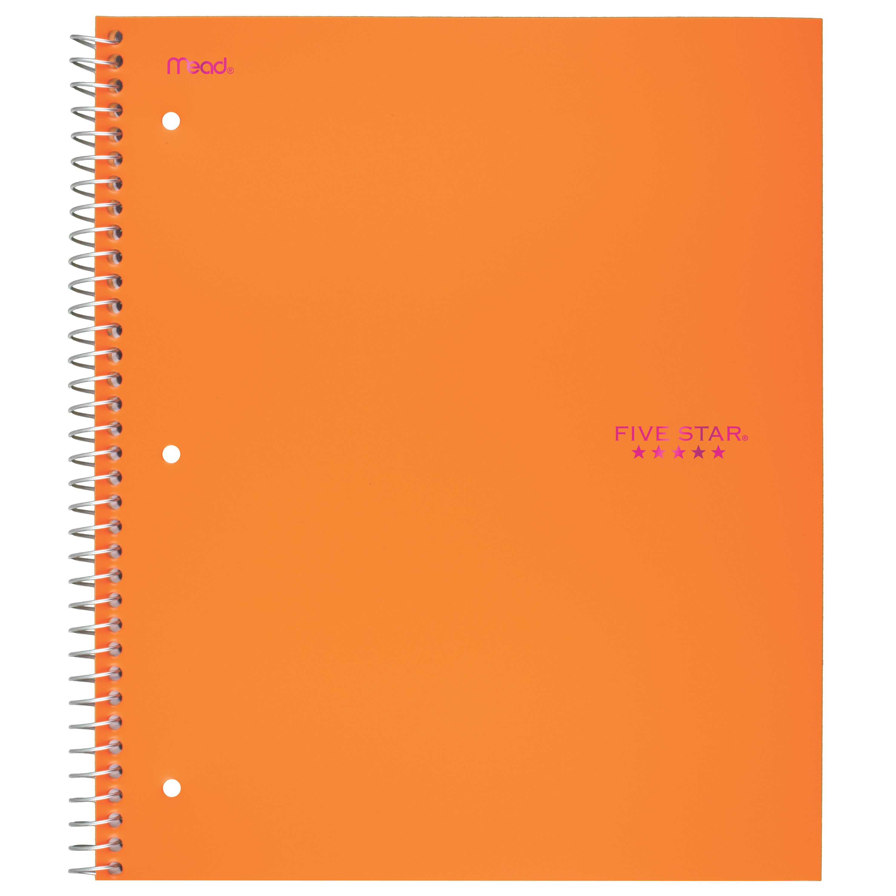 Five Star Trend Wirebound Notebook, 3 Subject, College Ruled, Assorted Colors (06881)