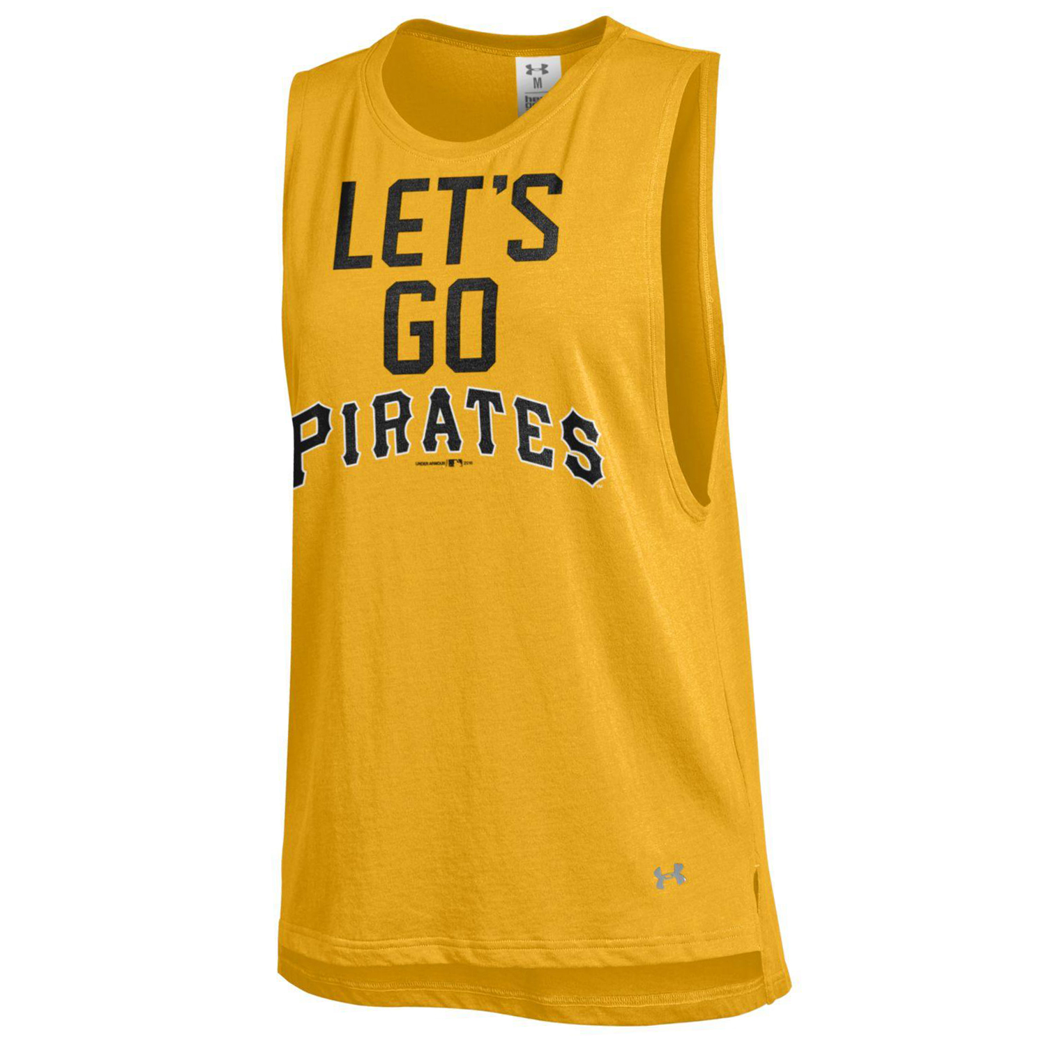 Pittsburgh Pirates Under Armour Women's Pride Sleeveless Performance T-Shirt - Gold