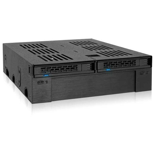 "Icy Dock ExpressCage 2 Bay 2.5"" SAS/SATA HDD/SSD Backplane Cage w/ 3.5"" Slot"