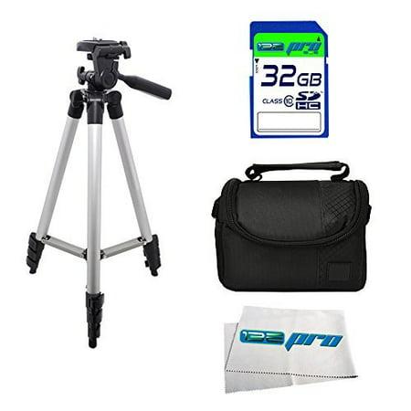 "I3e Pro 32GB Starter Kit With 50"" Tripod for Canon SX60 HS SX50 HS SX710 HS SX700 HS SX610 HS SX600 HS SX530 HS SX520 HS SX510 HS SX410 HS SX400 IS SX280 HS SX170 IS"