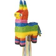 Classic Burro Donkey Pinata, Pull String, 22 x 14in