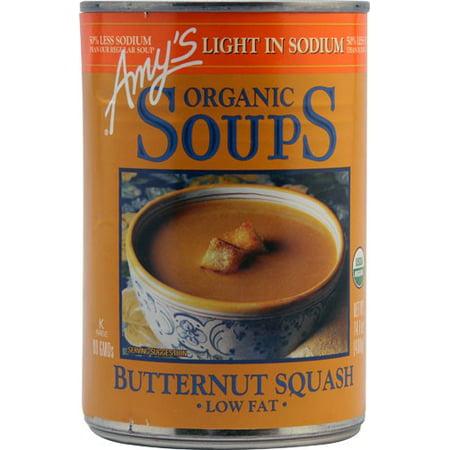 Amy's Organic Butternut Squash Soup, Light in Sodium, Low Fat, USDA Organic,