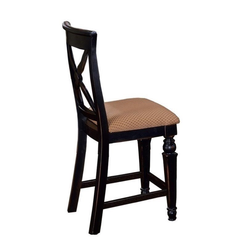 Hillsdale Northern Heights 24 Quot Counter Stool In Black And
