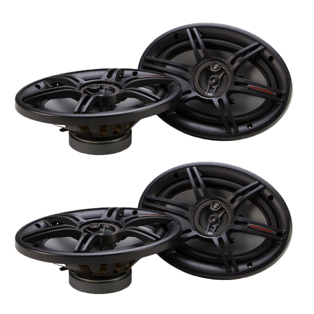 Crunch 800 Watts 6 x 9 Inches 3-Way 4-Ohm Coaxial CS Speakers (2 Pack) | CS-693