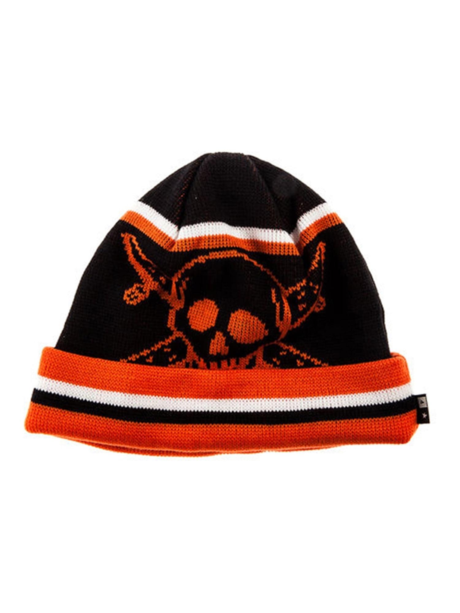 ea91f4b9527 Fourstar Clothing Mens The Pirate Stripe Beanie Hat black One Size