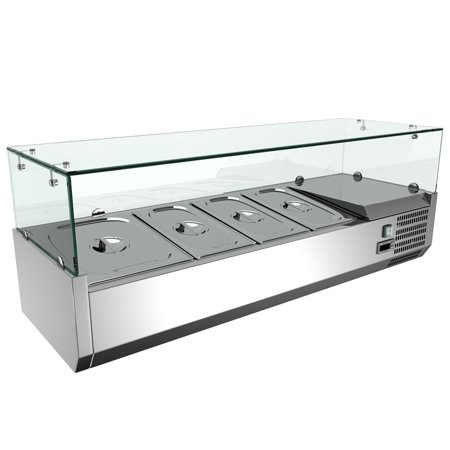 48'' Refrigerated Countertop Sandwich Prep / Pizza Prep table Stainless Steel ()