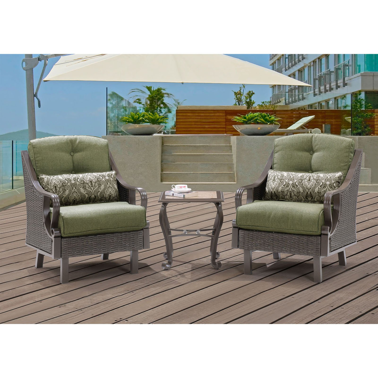 Hanover Outdoor Furniture 5 Piece Orange Aluminum Patio