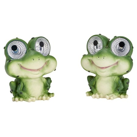 "Solar Garden Pal - Frog 2-pack (6.5"" H)"