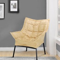 Milano Metal Chair Metal Frame- Black with Tan Outer Cover by Casual Home