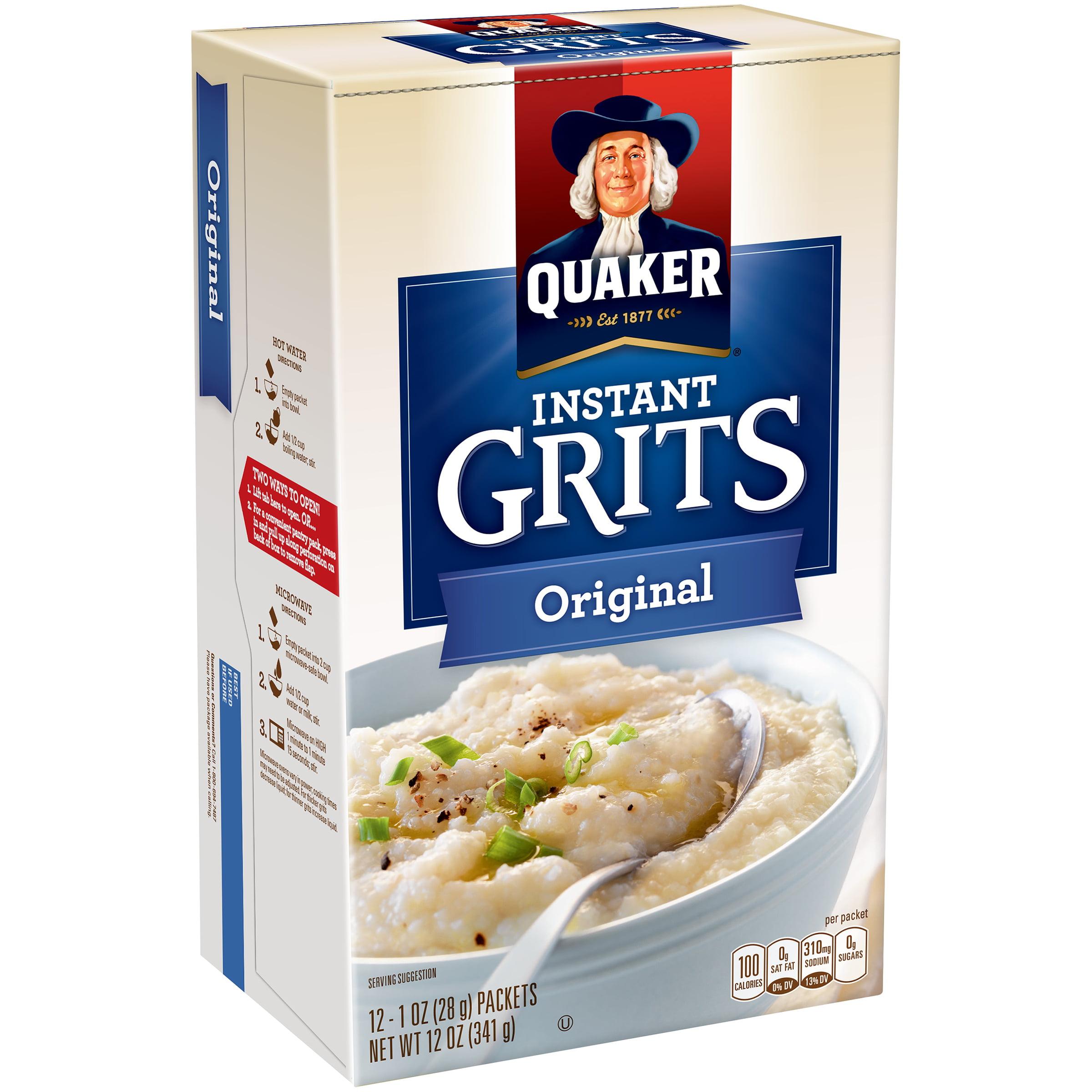 Quaker Instant Grits, Original, 1 oz Packets, 12 Count