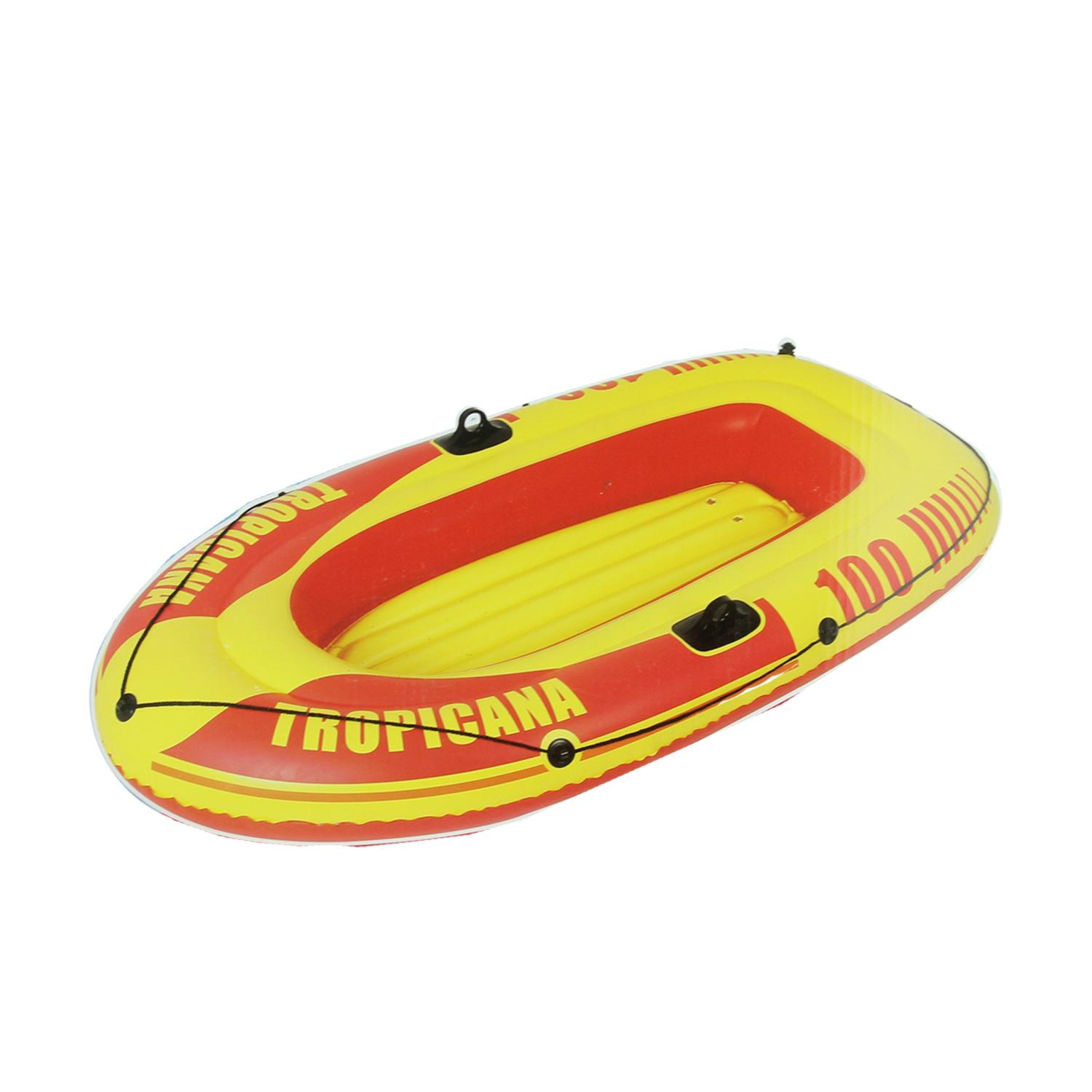 """72"""" Red and Yellow """"Tropicana 100"""" Inflatable Single Person Boat by Pool Central"""