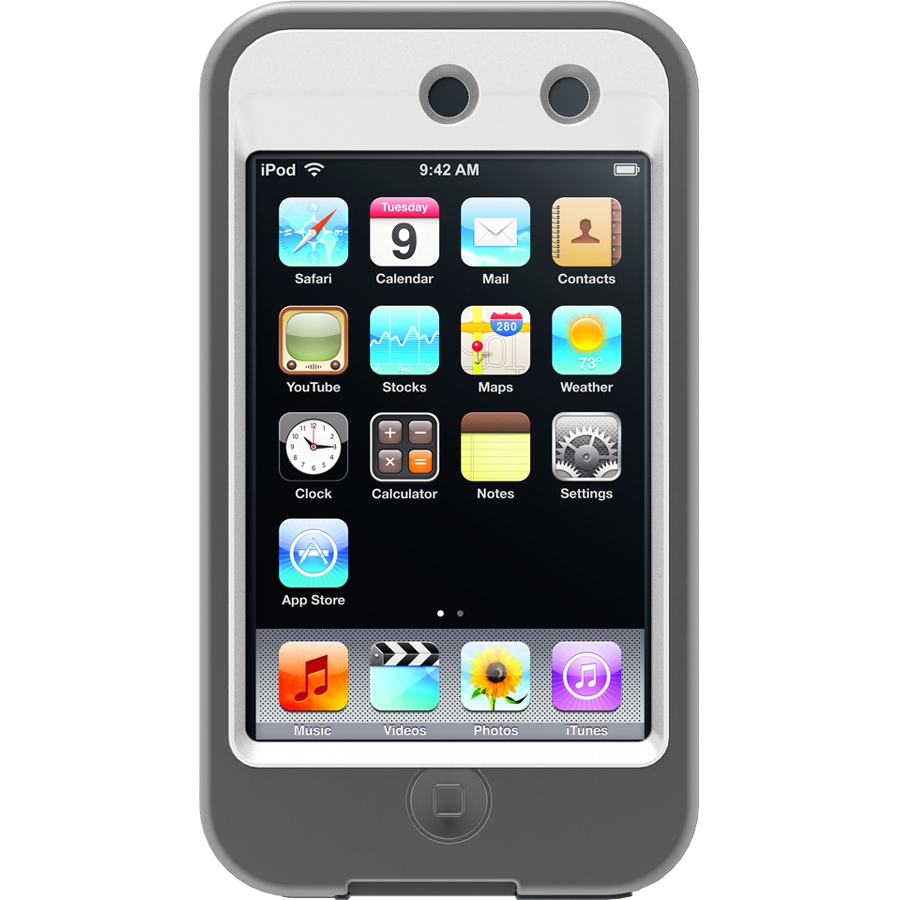OtterBox Defender Series Case for iPod touch 4G - White/Gray