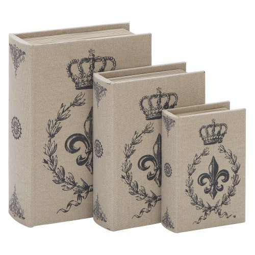 Woodland Imports 8-13H in. Library Storage Books - Set of 3