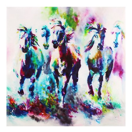 Peacock Horse Unframed Canvas Prints Modern Home Decor Wall Art Picture Oil Painting Room ()