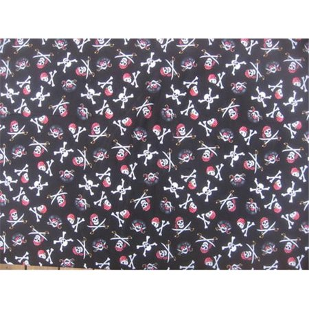 Dog Collar Bandanas D074MD Pirate Skulls and Crossbones Medium Dog Collar Bandana - Red (Buccaneer Pirate Skull Bandana)