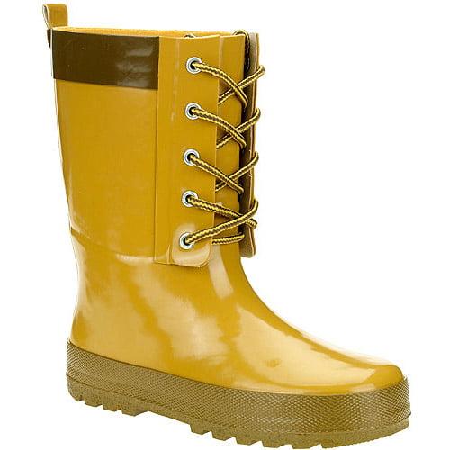 Boy's Blake Lace-Up Rain Boots